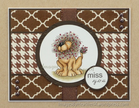 "HeatherM using Eureka! Stamps ""Hearty Lion"" digi"