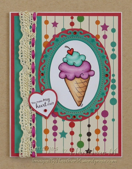 "HeatherM using From The Heart Stamps ""Ice Cream Cone"" digi"