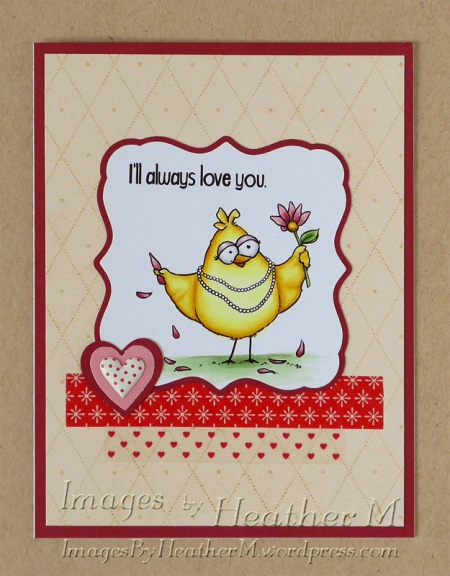 "HeatherM using From The Heart Stamps ""Loves Me Birdbrain"" digi"