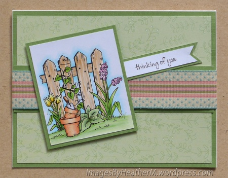 "HeatherM using From The Heart Stamps ""Spring Fence"" digi"