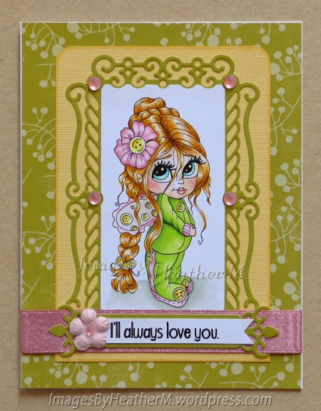 "HeatherM using Lacy Sunshine  ""Izzybella Boo Cute as a Button"" digi"
