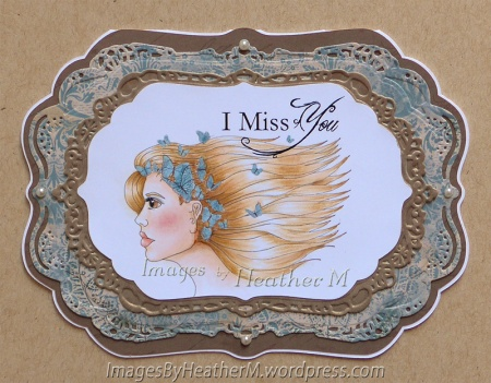 "HeatherM using Stitchy Bear Stamps ""Butterfly Profile"" digi"