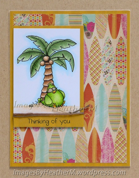 "HeatherM using From The Heart Stamps ""Tropical Chick"" digi"