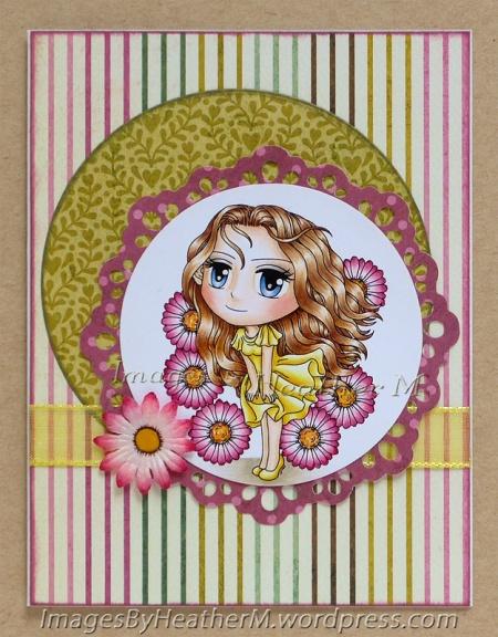 "HeatherM using Art By Mi Ran ""Delightful Daisy"" digi"