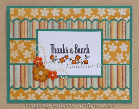 "HeatherM using Unity ""Thanks a Bitty Bunch"" rubber stamp"
