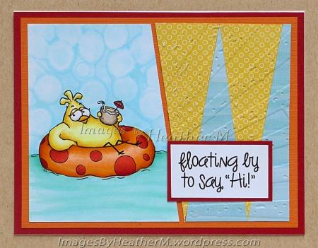 "HeatherM using From The Heart Stamps ""Inner Tube Birdbrain"" digi"