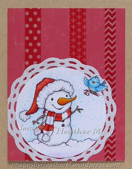 "HeatherM using From The Heart Stamps ""Candy Cane for Snowman"" digi"