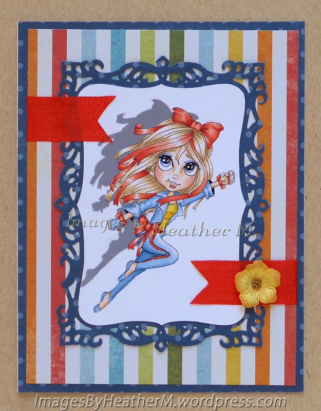"HeatherM using Lacy Sunshine ""Super Bows LS Superhero"" digi"