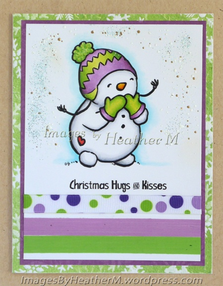 "HeatherM using From The Heart Stamps ""Blowing Kisses"" digi"