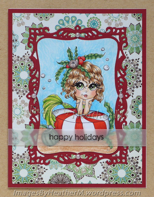 "HeatherM using Lacy Sunshine ""Shelby's Holiday Sea Mint"" digi"