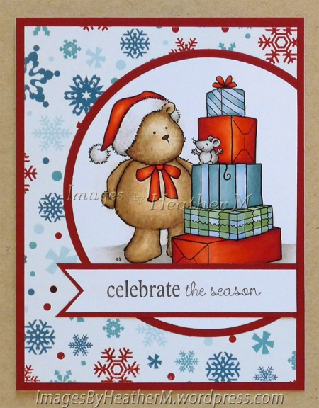 """HeatherM using From the Heart Stamps """"Gift Stack Teddy Bear"""" digi"""