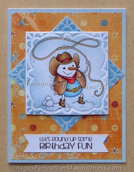 "HeatherM using From the Heart Stamps ""Snow Cowboy"" digi"