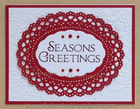 HeatherM foiled Seasons Greetings