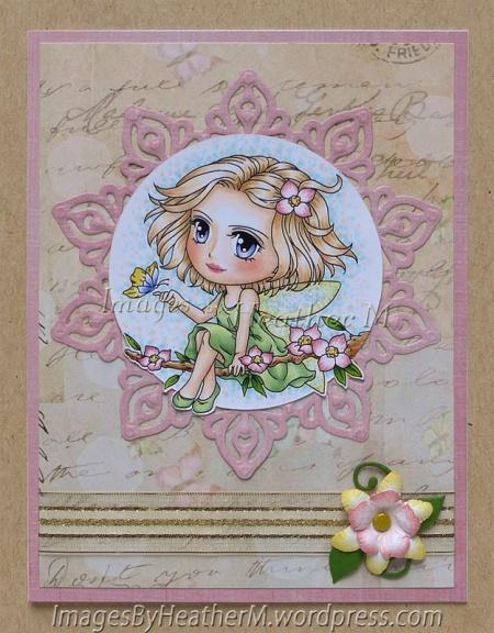 "HeatherM using Art by Mi Ran ""Fairy Freya"" digi"