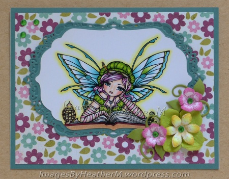 "HeatherM using Hannah Lynn ""Book Worm Fairy"" digi"