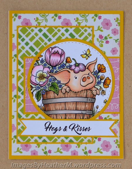 "HeatherM using From the Heart Stamps ""Hamlet PigWit in the Planter"" digi"