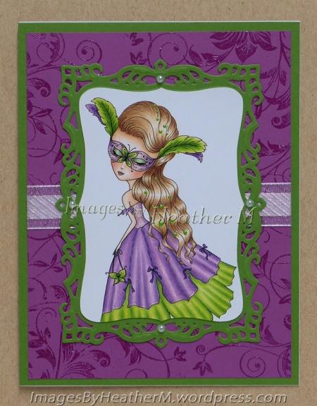 "HeatherM using Julia Spir ""Venetian Butterfly"" digi"