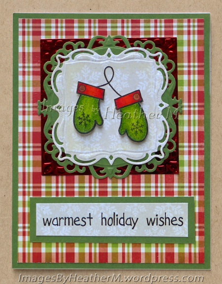 "HeatherM using Imaginisce ""Mittens"" clear stamp."