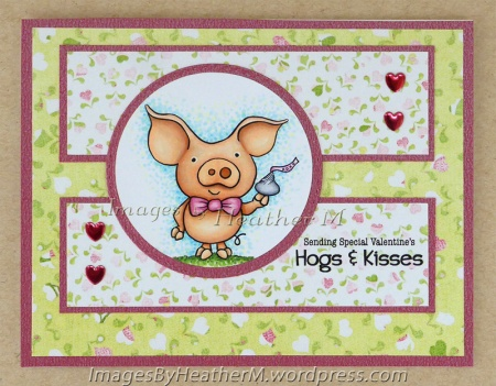 "HeatherM using FTHS ""Hogs and Kisses PigWit"" digi."