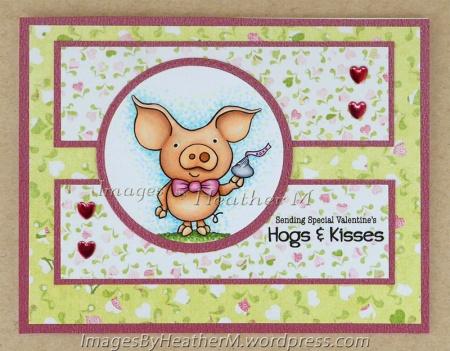 "HeatherM using FTHS ""Hogs and Kisses PigWit"" digi."